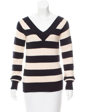 Theory Printed V-Neck Sweater None