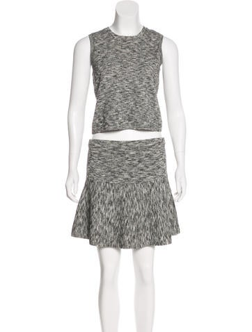 Theory Wool-Blend Skirt Set w/ Tags None