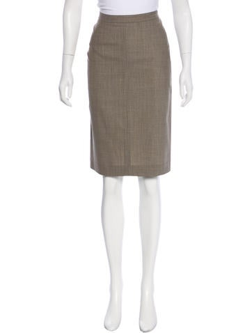 Theory Wool-Blend Skirt None