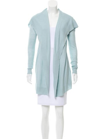 Theory Open Front Linen Knit Cardigan None