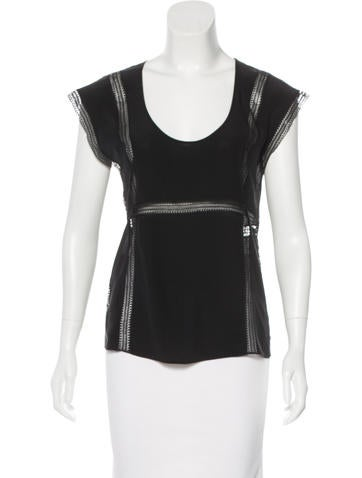 Theory Silk Sleeveless Top None