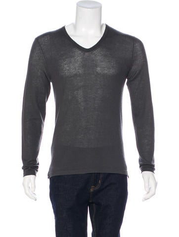 Theory Cashmere and Silk-Blend Sweater None