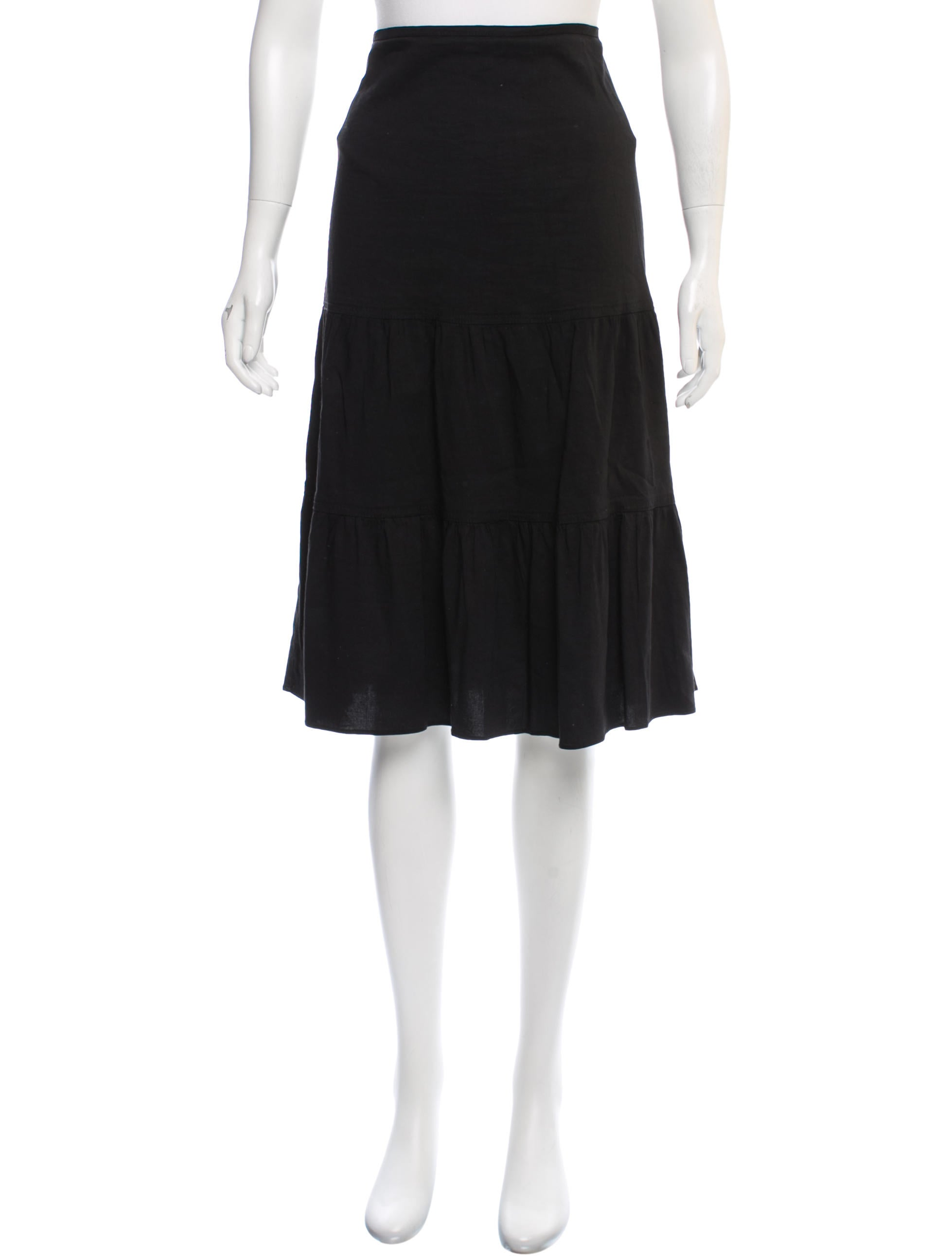 Theory Knee-Length Flounce Skirt Clearance Footlocker iRFRTb5SRx