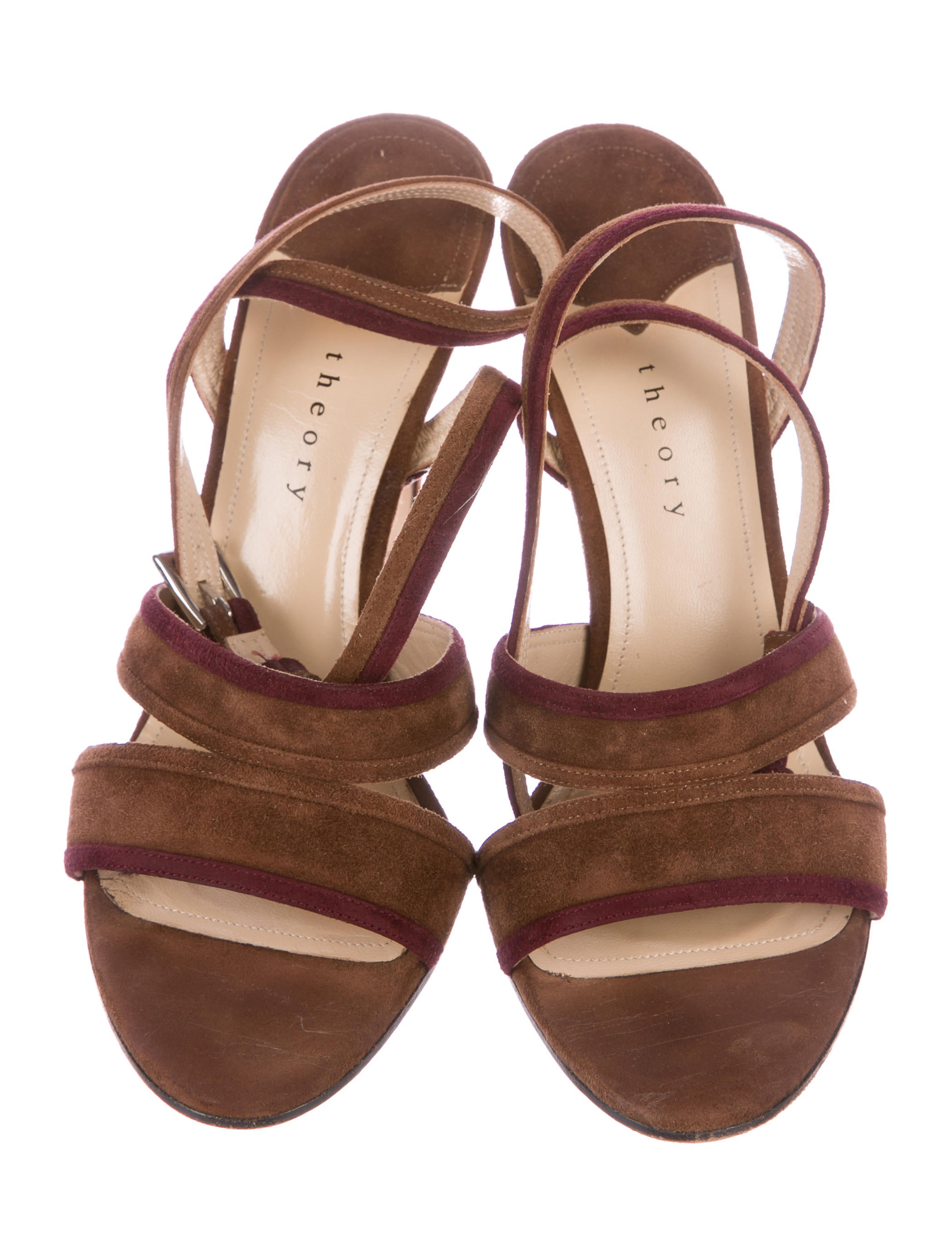 buy cheap amazing price low shipping fee for sale Theory Suede Multistrap Sandals sN7s03ilmR