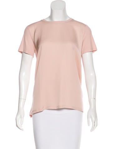 Silk Short Sleeve Top