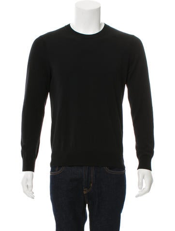 Theory Woven Crew Neck Sweater None