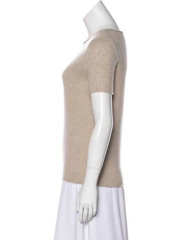 Cashmere Short Sleeve Top