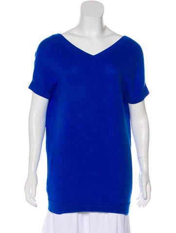 Theory Cashmere Short Sleeve Top None