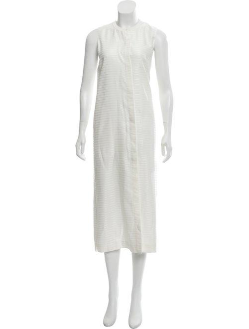 Theory Sleeveless Midi Dress White