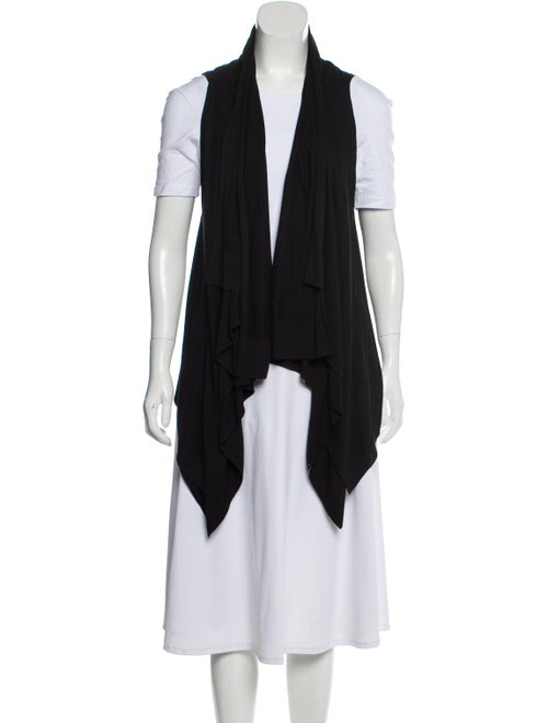 Theory Sleeveless Asymmetrical Cardigan Black