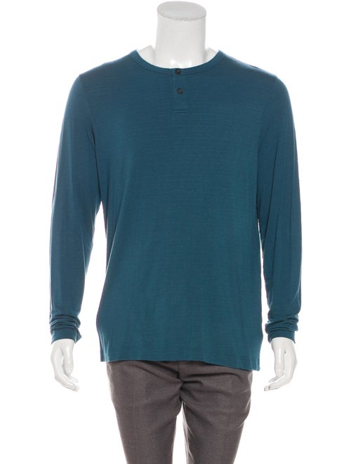 Theory Gaskell Henley T-Shirt teal
