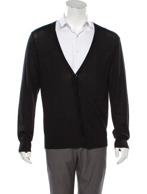 Theory Wool Shawl Cardigan black