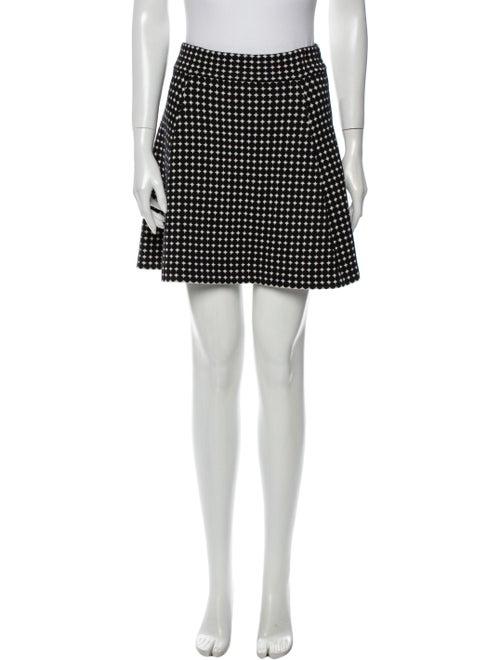 Theory Printed Mini Skirt Black