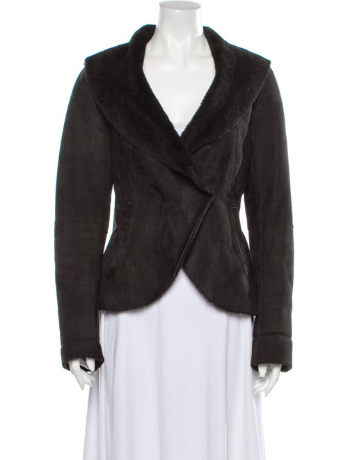 Theory Shearling Jacket Black