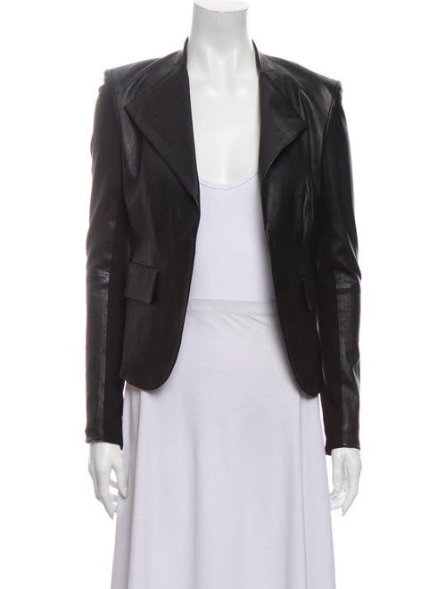 Theory Lamb Leather Blazer Black