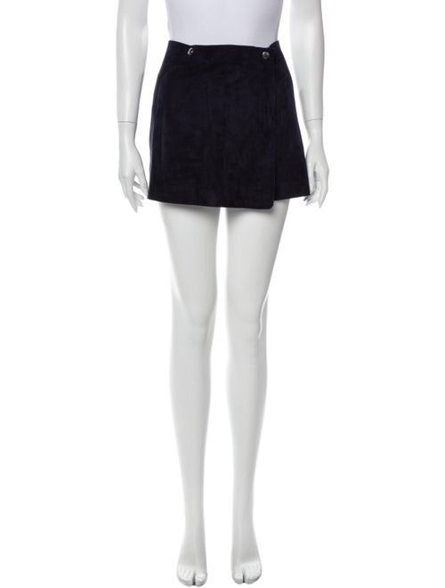 Theory Suede Mini Skirt Blue