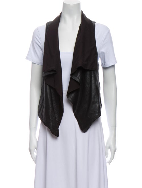 Theory Leather Vest Black