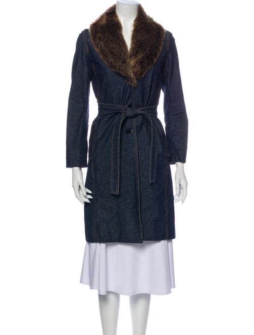 Theory Trench Coat Blue