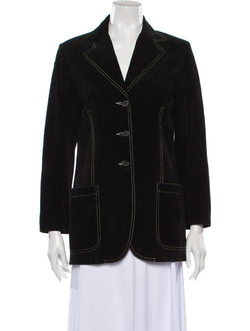 Theory Leather Blazer Black
