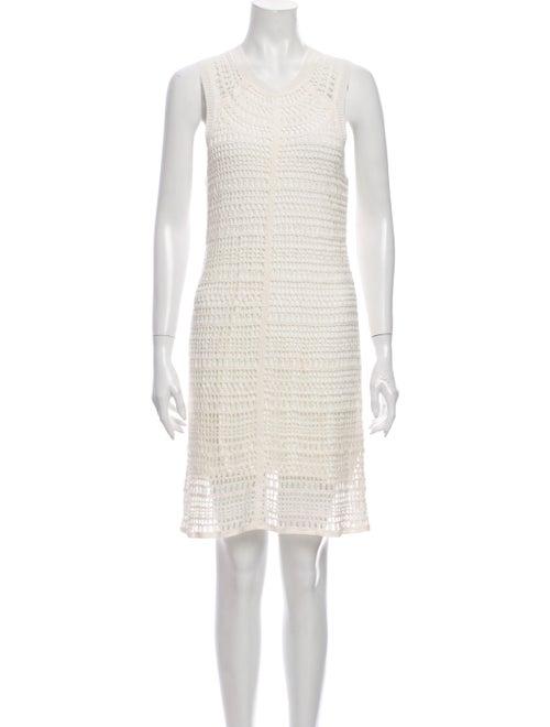Theory Linen Mini Dress White - image 1