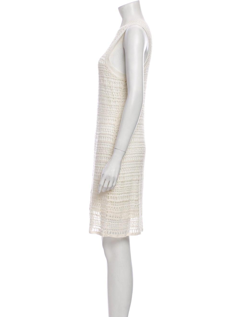 Theory Linen Mini Dress White - image 2