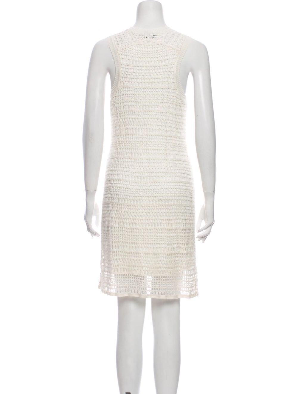 Theory Linen Mini Dress White - image 3