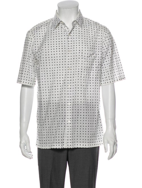 Theory Printed Short Sleeve Shirt Black