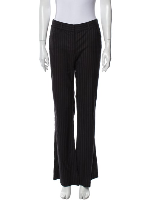 Theory Striped Wide Leg Pants Grey