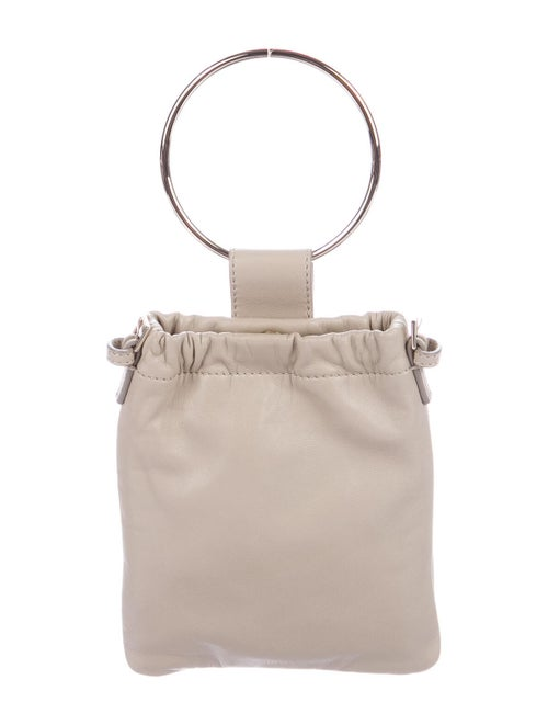 Theory Leather Crossbody Bag Gold