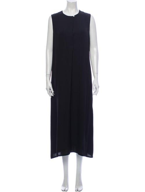 Theory Silk Midi Length Dress Black