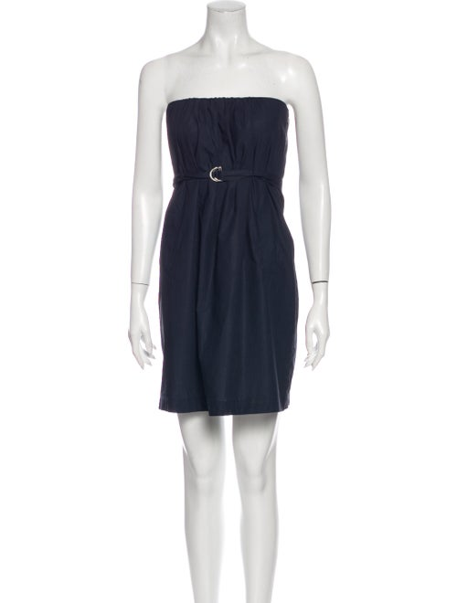 Theory Strapless Mini Dress Blue