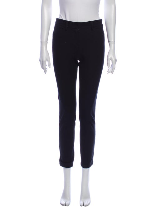 Theory Silk Straight Leg Pants Black