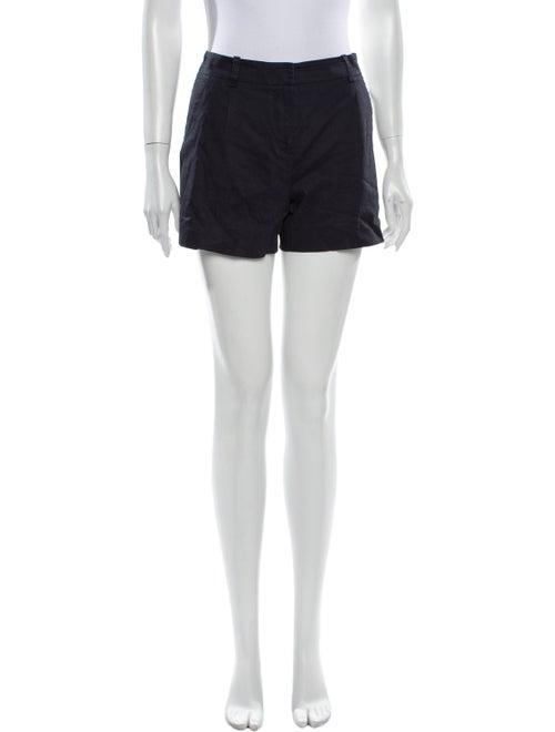 Theory Linen Mini Shorts Blue