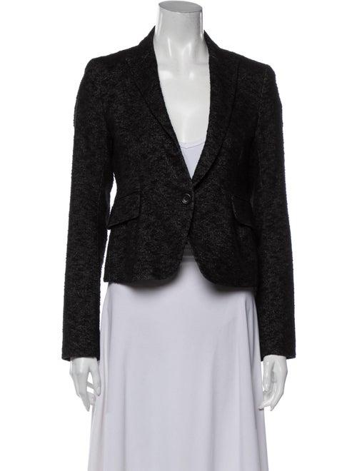 Theory Tweed Pattern Blazer Grey