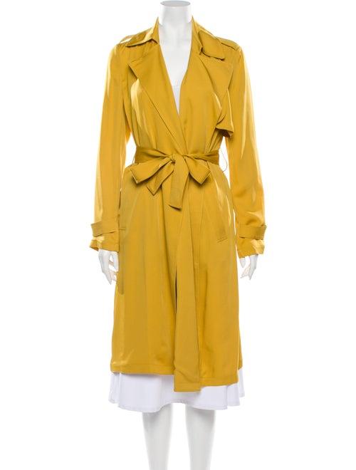Theory Silk Utility Jacket Yellow