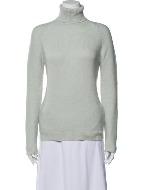 Theory Cashmere Turtleneck Sweater Green