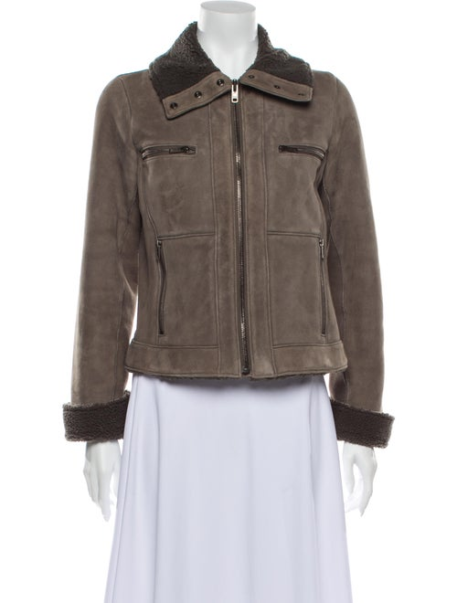 Theory Shearling Utility Jacket Brown