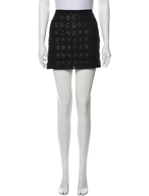 Theory Silk Mini Skirt Black - image 1