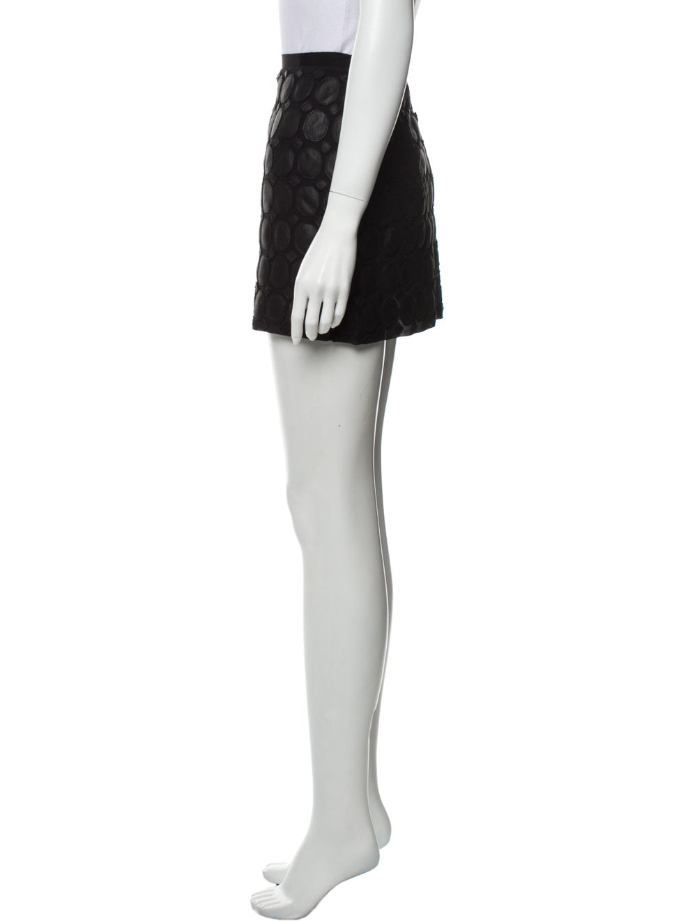 Theory Silk Mini Skirt Black - image 2