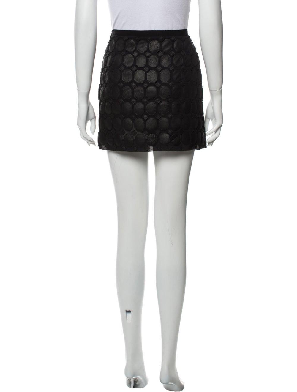 Theory Silk Mini Skirt Black - image 3