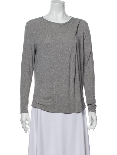 Theory Scoop Neck Long Sleeve T-Shirt Grey