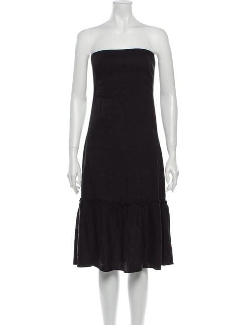 Theory Linen Mini Dress Black