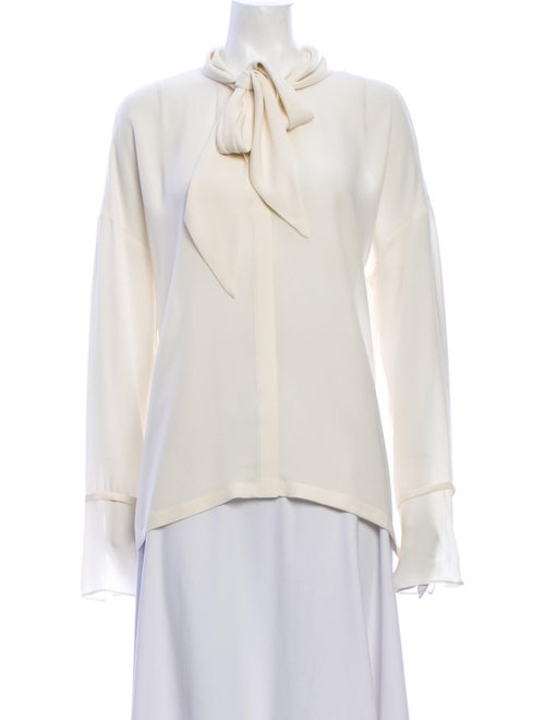 Theory Tie Neck Long Sleeve Blouse