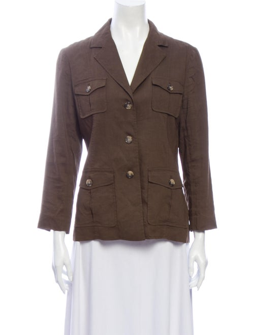 Theory Linen Utility Jacket Brown