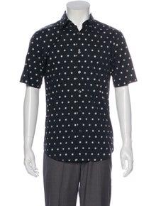 Theory Polka Dot Print Short Sleeve Shirt