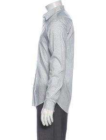 Theory Printed Long Sleeve Dress Shirt