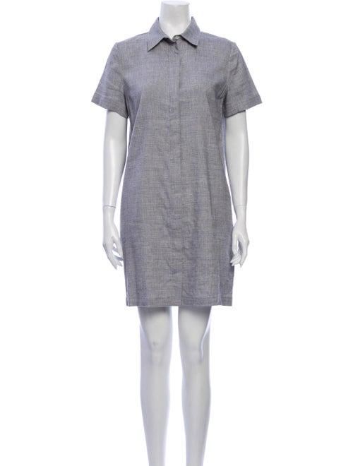Theory Linen Mini Dress Grey