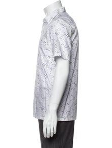 Theory Printed Short Sleeve Shirt w/ Tags