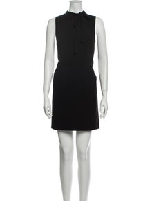 Theory Mock Neck Mini Dress