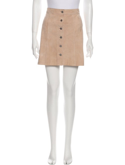 Theory Suede Mini Skirt